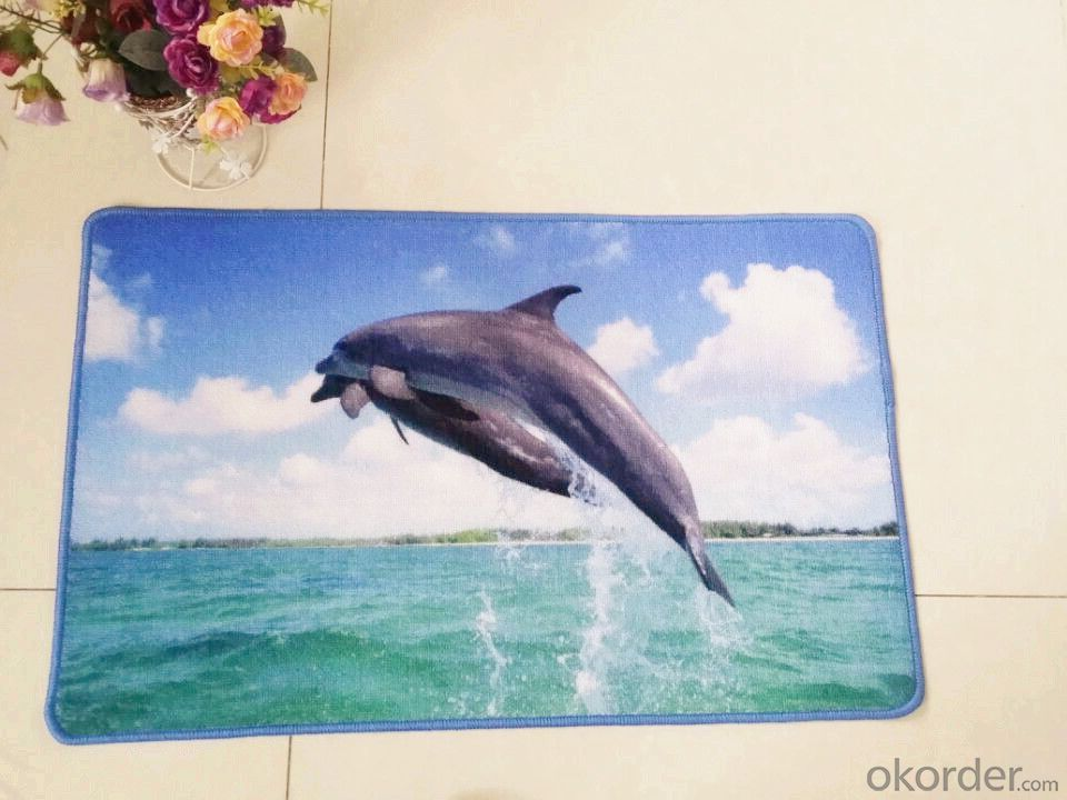 Lovely Dolphins Nylon Printed Rug