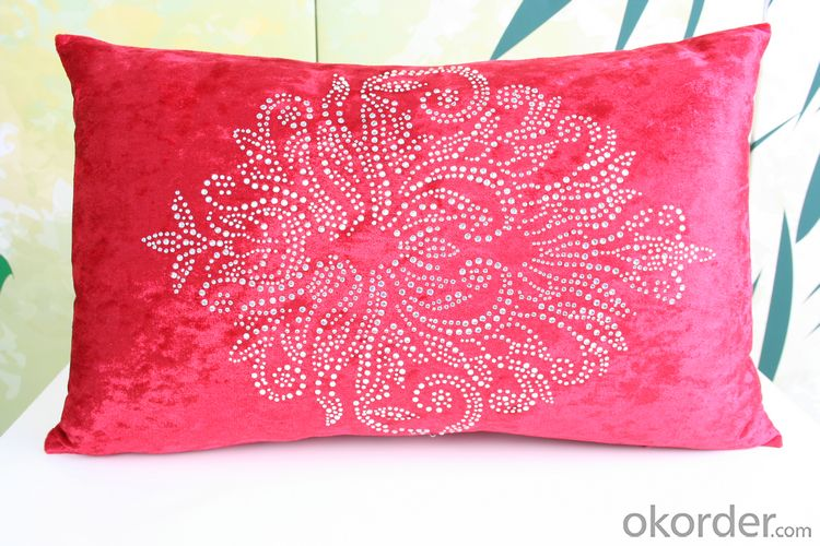 Two Side Black Color Printed Cotton Pillow