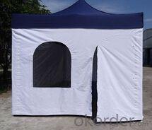 Folding door tent