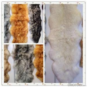 Soft Grey Color  Shaggy Sheepskin Carpet