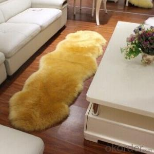 Good Quality Dark Brown Color Sheepskin Rug