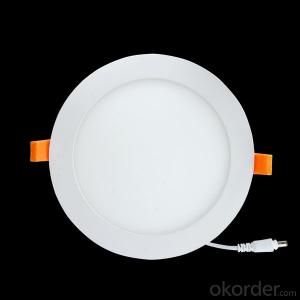 Slim Led Panel Light 3W CRI 80 PF 0.9 Recessed Mount Round Shape