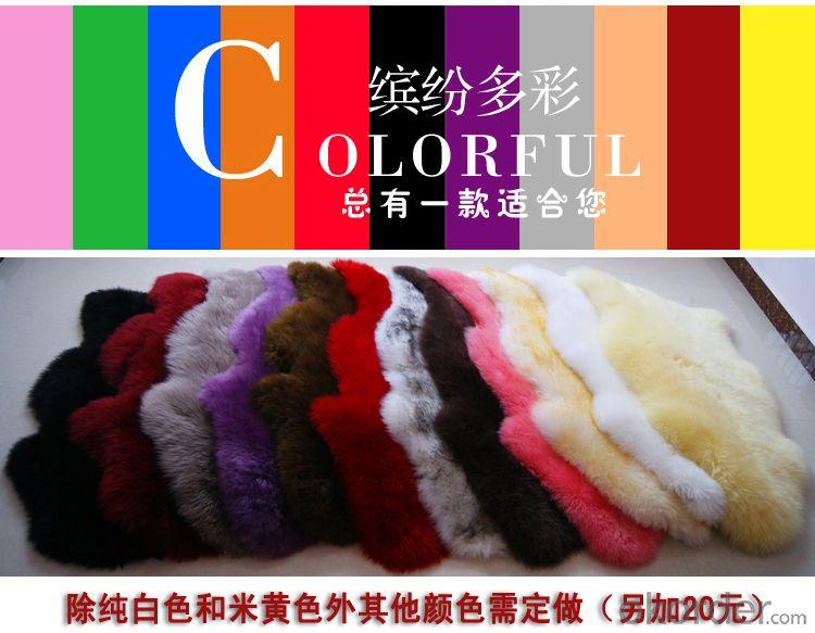 Customed Size and Color Sheepskin Carpet