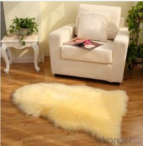 Lime Yellow Sheepskin Rug 60cm x 90cm