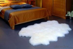 Long Hair Pure White Australia Sheepskin Carpet