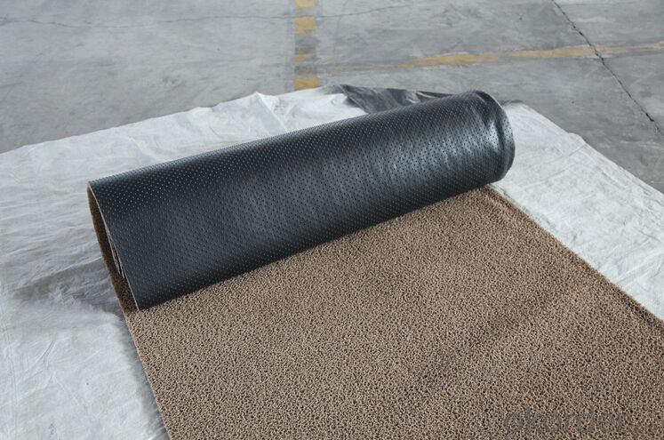 Non slip anti-fatigue durable PVC coil mat