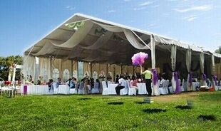 Large outdoor event tents