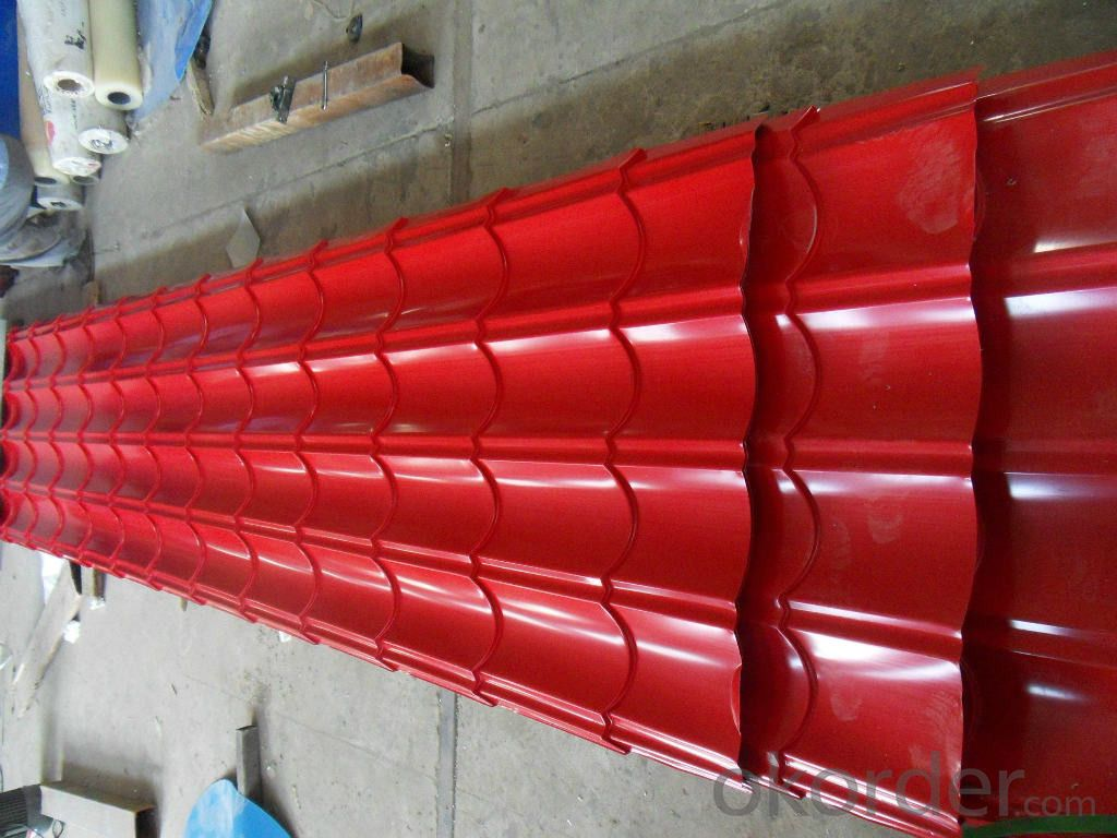 Pre-Painted Galvanized/Aluzinc Steel Roof Color Red