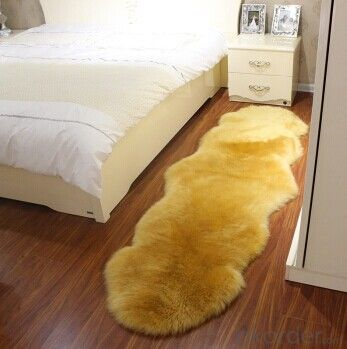 Lime Green Color Sheepskin Rug with Soft Touch