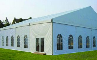 Warehouse tent with pvc fabric wall and windows