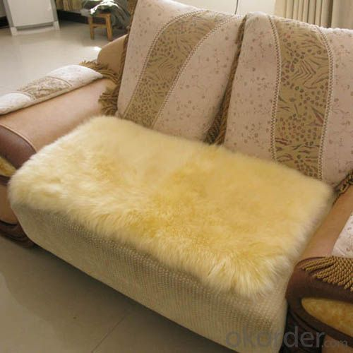 Square Shape Lime Yellow Sheepskin Carpet