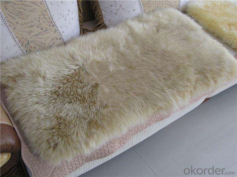 Soft Grey Color  Shaggy Sheepskin Carpet