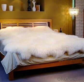 Yellow , Pure White Octo Size Sheepskin Indoor Carpet