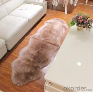 Good Quality Purple Color Australia Sheepskin Carpet