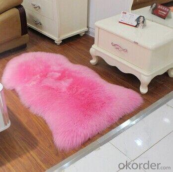 Australian Pink Color  Single Sheepskin Carpet  60cm x 90cm
