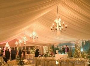 Party tent for christmas festival