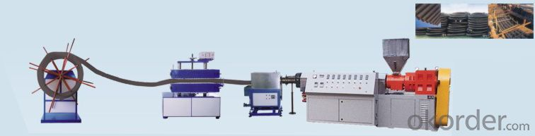 PE carbon spiral pipe machine / PE spiral carbon pipe production line
