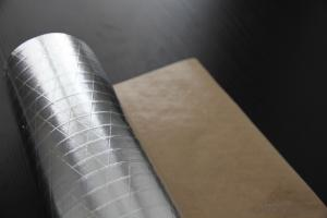 Aluminum Foil Facing, Single Sided Paper Foil Insulation Facing