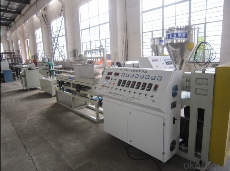 PC sheet production line/single-layer multi-layer PE/ABS/PMMA/PS sheet making machine