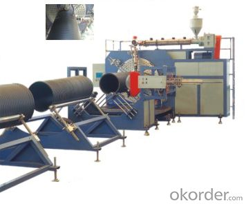 Large Caliber Hollow Wall HDPE Winding Pipe Extrusion Production Line