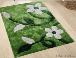 Polyester Silk Knot Shaggy Carpet