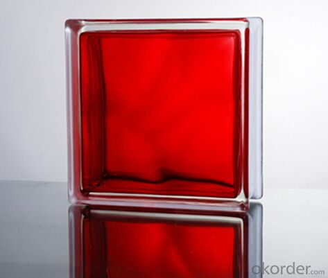 Glass Block (In-Colored Red)