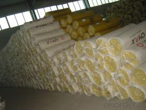 Insulation Glass Wool Blanket Kraft Paper Faced For Drywall