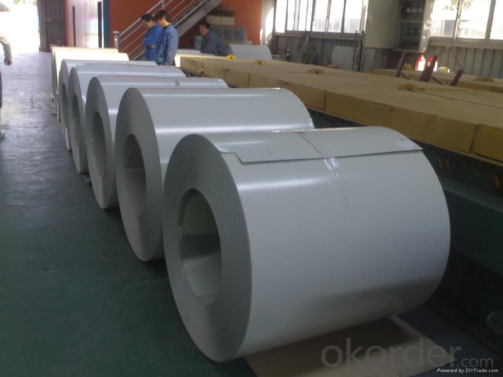 printed PPGI Prepainted Steel Coil (color coated steel) with film HDGI