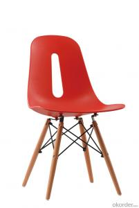 New design eames dining chair with wooden leg