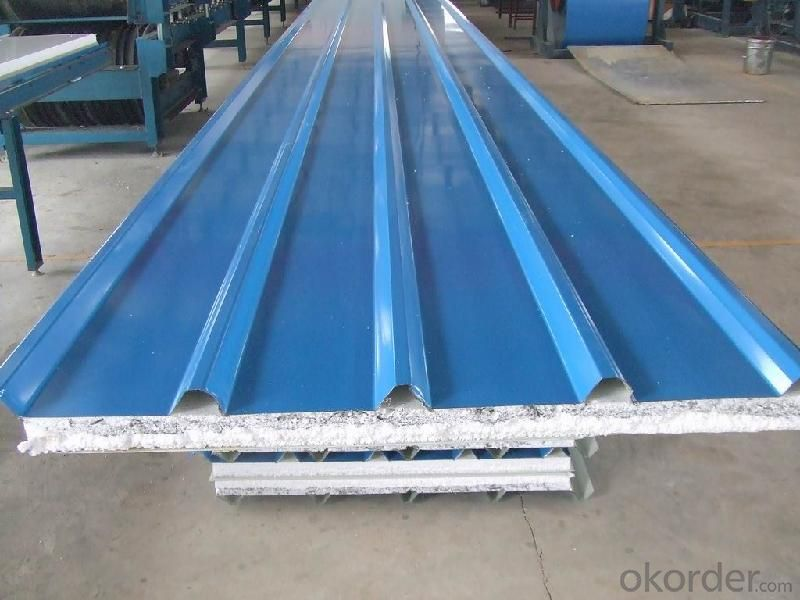 Color coated corrugated steel Sheets