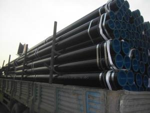 SEAMLESS PIPE WITH BLACK PAINTING