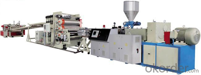 PP Three-layer five-layer co-extrusion Building Templates production line