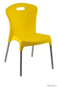 Outdoor restaurant plastic dining chair