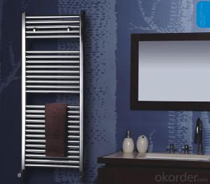 Steel Ladder Towel Radiator in Bathroom and Kitchen