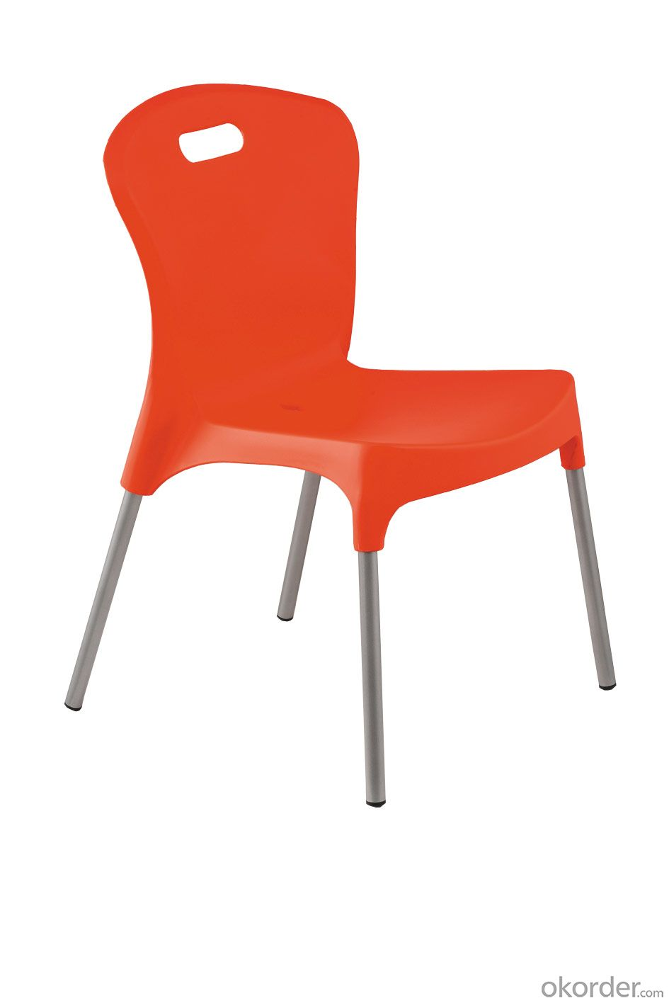 Outdoor restaurant plastic dining chair