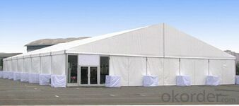 Waterproof, fire proof warehouse marquee tent