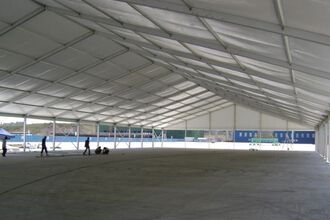 Large aluminum PVC storage warehouse tent