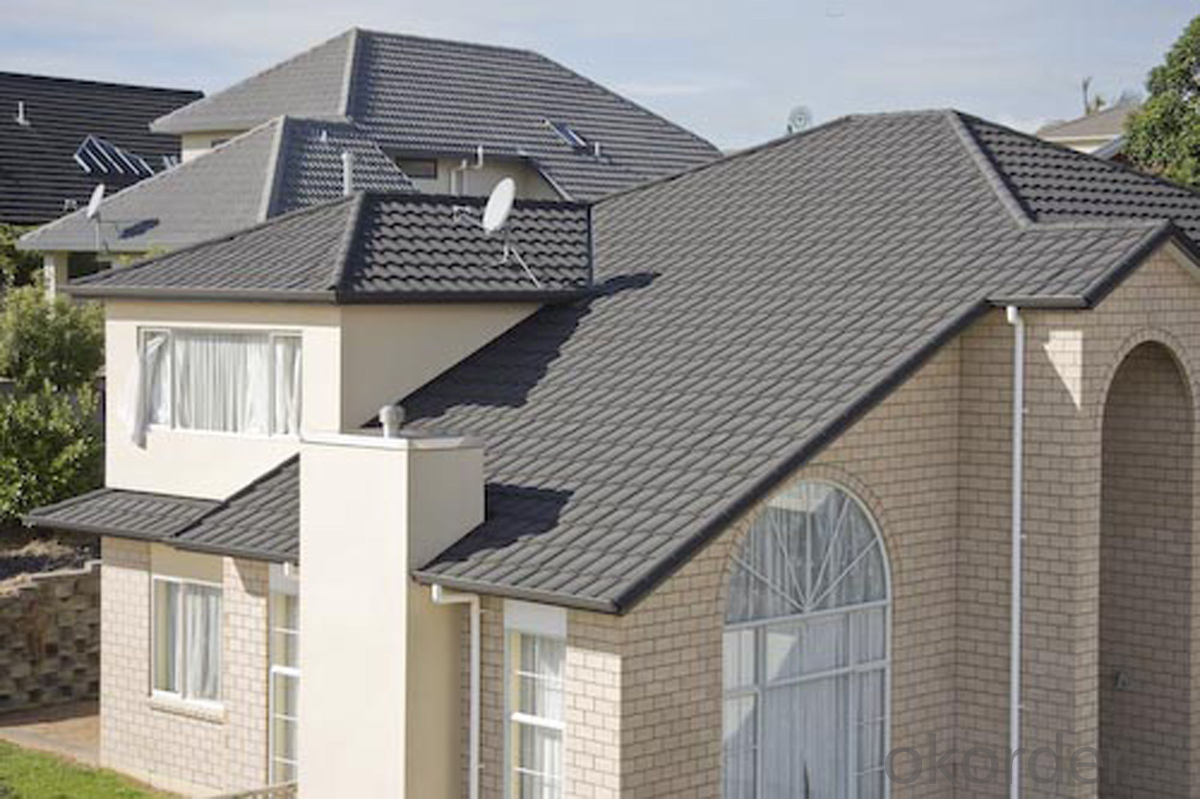 Good Classic Colorful Stone Coated Metal Roof Tile Shingles