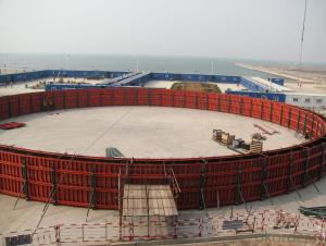 steel formwork for wall,nuclear power plant,LNG...