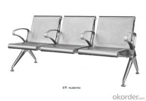 Latest Stainless Steel Waiting Chair 600-K02H3