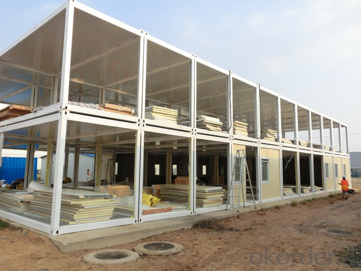 Container Accommodation G+1 Sandwich Panel House Modular House