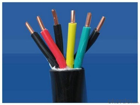 Plastics insnlated and sheathed control cable