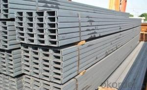 Steel U Channel GB Q235 JIS G3192 Hot Rolled High Quality