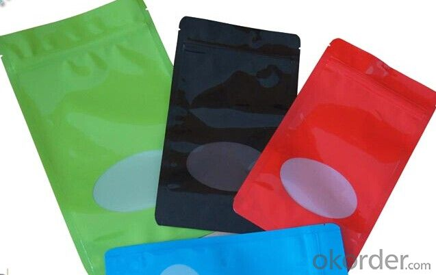 Food Grade Plastic Stand Up Pouch With Window