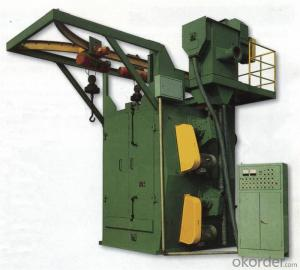 Q383 double route hanger chains shot-blasting machine