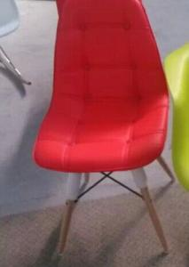 PU Chair with Wodden legs