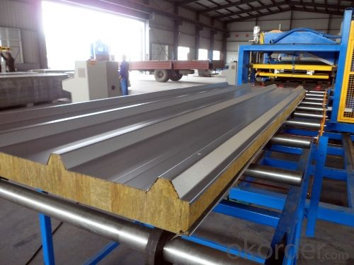 Buy rock wool sandwich panels steel prefab house high for Steel wool insulation