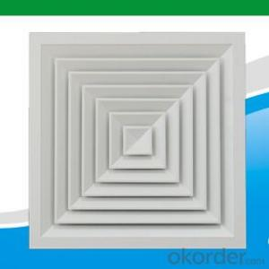 square and round air diffusers