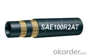 Wire Braided Hydraulic Hose SAE 100R2AT