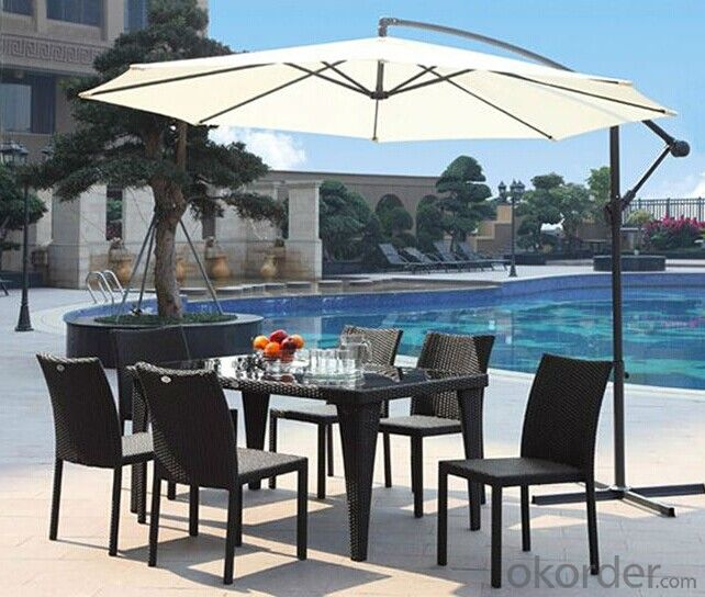 Iron Tube Rattan Dinner Set Outdoor